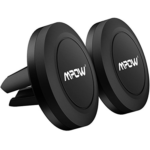 Soporte Móvil Coche Magnético de 2(dos) Unidades para Rejillas del Aire de Coche,Mpow Grip Magic Car Mount Universal para <stro data-recalc-dims=