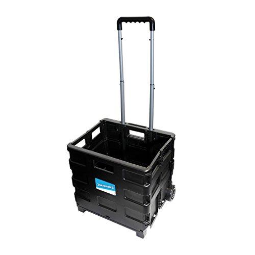 Silverline 633400 - Carretilla con caja plegable (25 kg)