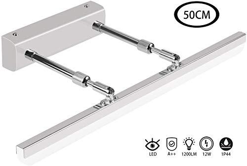12W LED Lampada da Specchio, Specchio Armadio,Lampada da Bagno IP44 Bianco Neutro 4000 K 500 X 200 X...