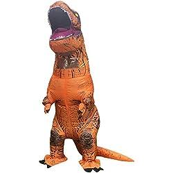 Ninos Divertido Inflables Disfraz fantasia traje inflable vestido dinosaurio Tyrannosaurus para Fiesta Halloween