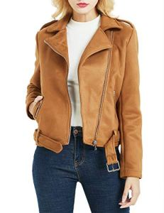Bellivera Damen PU Lederjacke (3 Farben), Bikerjacke mit Reißverschluss, Kurze Jacke für Herbst, Frühling 11