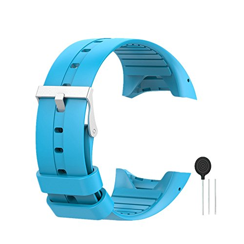 WEINISITE Silicone Regolabile Sostituzione Cinturino per Polar M400/M430 GPS Orologio (Blu)