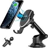 CHOETECH Caricatore Wireless Auto, 10W Gravità Ricarica Wireless da Auto per Galaxy S10/S9/S9 +/S8/S8 +/Note 8, 7.5W per iPhone 11/XS/XR/X/8/8 Plus e 5W per Huawei Mate 20 Pro/P30 Pro, Xiaomi mi9