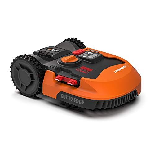 Worx Tagliaerba Robot da Giardino Landroid WR155E, Rasaerba Elettrico a Batteria 20 V, Tosaerba 3 Lame Mobili, Comando Wi-Fi
