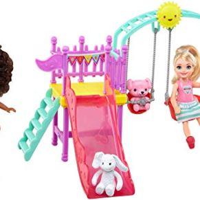 Barbie Chelsea Muñecas con Columpios y Accesorios de Juguetes 3 Años (Mattel FTF93)