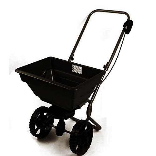 Dirty Pro ToolsTM 55 lbs Professional rotary spreader lawn fertiliser walk behind grass weed or seed feed or grit spreader
