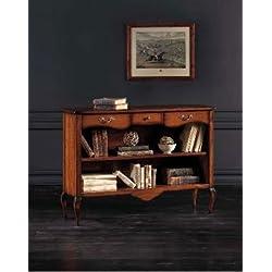 Bücherregal Holz Antik cm 120 x 36, h 87 - Italienischer Produktion