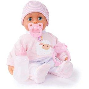 Bayer Design- Muñeca bebé 38 cm, Las Primeras Palabras, con chupete y botellín, Color rosa (93824AI) , color/modelo surtido