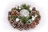 GoldenHome Centro TAVOLA Natale Regina. Idea Regalo Natale:Porta Candele -Decorazione Natalizia -ADDOBBO Natalizio