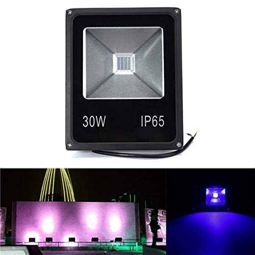 DADEQISH Proiettore UV a LED 30W Luce diffusa 365/375/385/395/405 / 415NM Lampada impermeabile...