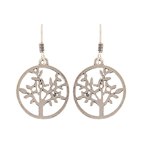 Arittra Alloy Tribal Design German Silver Round Tree Earring in Antique Finish for Girls and Women-Valentine gift,todays,deal,party,casual,discount,offer,sale,clearance,lightning,festival,fashion,wedding,summer