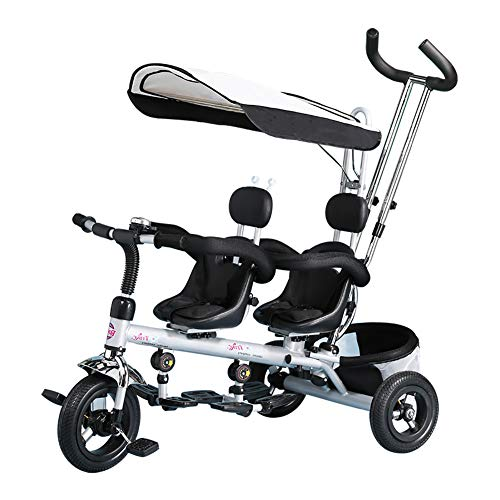 CHEERALL Triciclo per Bambini Trike, Trike per Bambini 4 in 1 Doppio con cestello, Manubrio e...