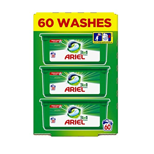 Ariel 3 in 1 Liquid Detergent Pods 60's Regular