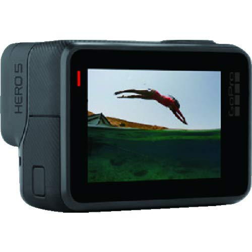 GoPro Hero5 Black - Cámara deportiva de 12 MP (4K, 1080p, WIFI + Bluetooth, control por voz, pantalla táctil), color gris y negro