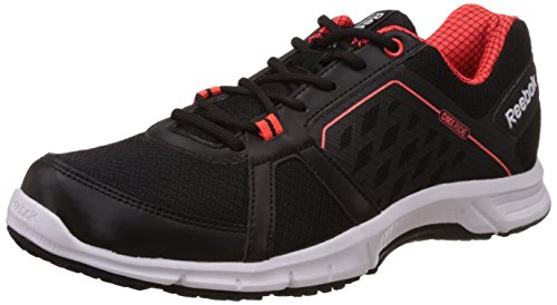 Reebok Men's Edge Quick 2.0 Black, Atomic Red and White Running Shoes - 8 UK