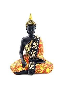 Figura Buda de Resina y Tela (14x9x21)