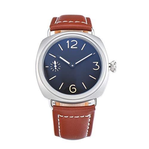 Parnis Alzata di mano mm 9506-Orologio da uomo, quadrante di orologio 45mm in acciaio inox...
