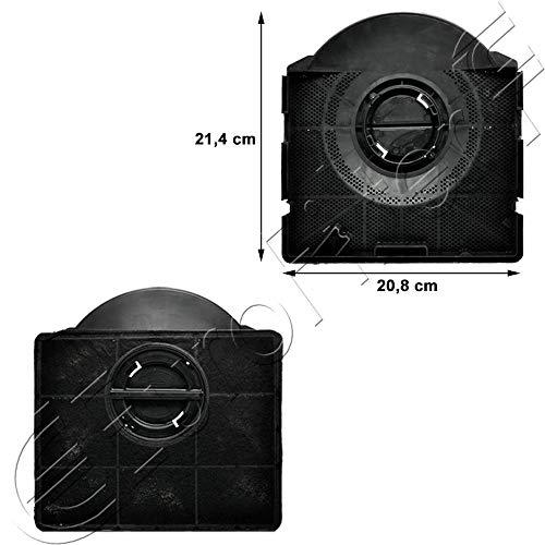 Euro Filter FKS189 Filtro Cappa Carbone Attivo Type 303 214 x 208 H 40 mm Aeg Ariston Balay Bauknect...