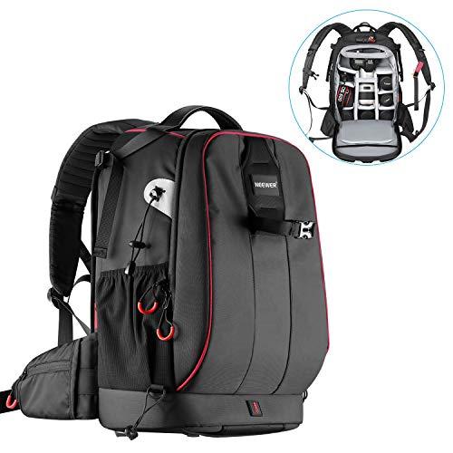 Neewer Pro wasserdicht stoßfest Verstellbarer gepolsterter Kamera Rucksack Tasche mit Diebstahlschutz Zahlenschloss für DSLR DJI Drone Stative Flash Objektiv und andere Zubehör
