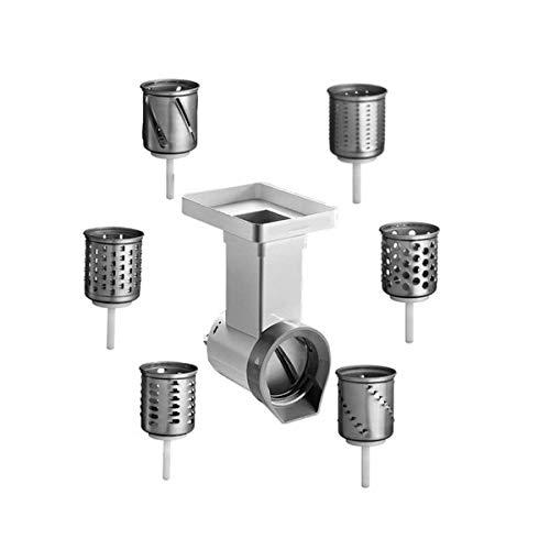 KitchenAid - Set di accessori per robot, composto da affettatrice MVSA e cilindri aggiuntivi EMVSC