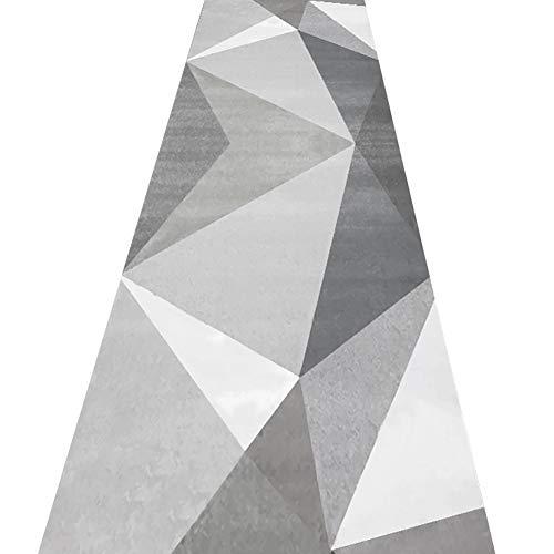 GuoWei-Tappeto Moderno Geometrico Patchwork per Lungo Entryway Corridoio Salotto Antiscivolo Mucchio...