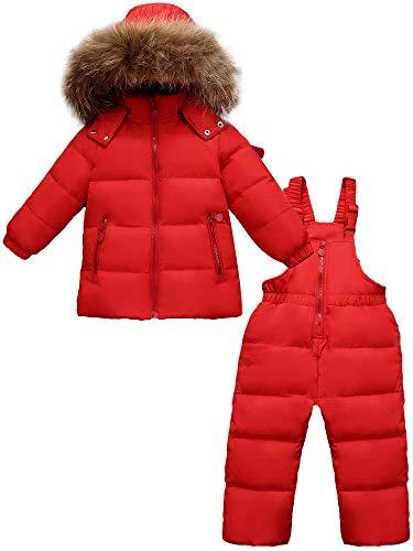 Zoerea Tuta da Sci per Bambino Unisex Set Tute Completo da Neve 2 Pezzi Snowsuit Caldo Invernale...