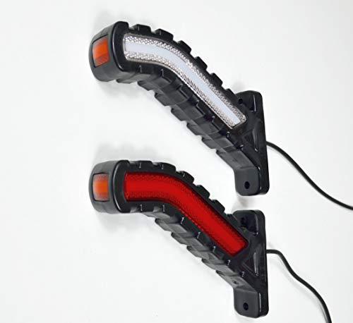Luci di posizione laterali a LED 24 V, per camion, rimorchi, autobus, roulotte, neon bianco, arancione e rosso