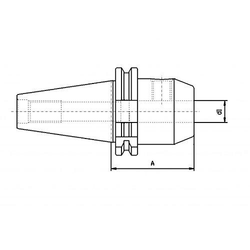 CNC Tool Mount SK30WELDON 10mm DIN 69871