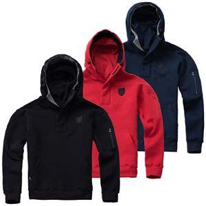 PG-Wear-Herren-Full-Face-Hoodie-Frontline-18-mit-Sturmhaube-schwarz-rot-Navy-S-XXXL