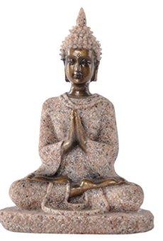 Estatua Estatuilla de Piedra Arenisca Escultura de Buda Meditación Tallada a Mano #3