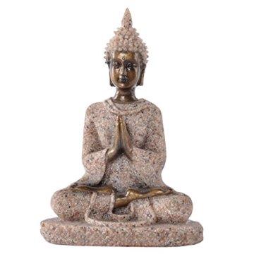 Estatua Estatuilla de Piedra Arenisca Escultura de Buda Meditación Tallada a Mano #3 3