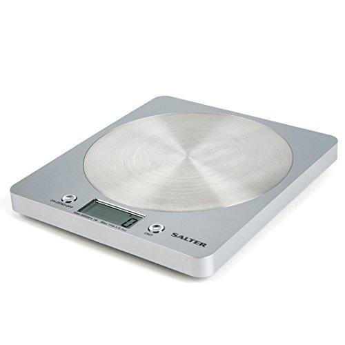 Salter 1036 SVSSDR Bilancia da Cucina Elettronica Design, Ultrasottile con Piattaforma a Disco in...