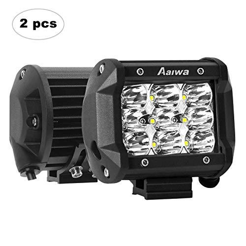 AAIWA Faro da Lavoro LED, 4 Pollici 27W Faretti a LED per Auto Barra LED Fuoristrada LED Pods con 9...