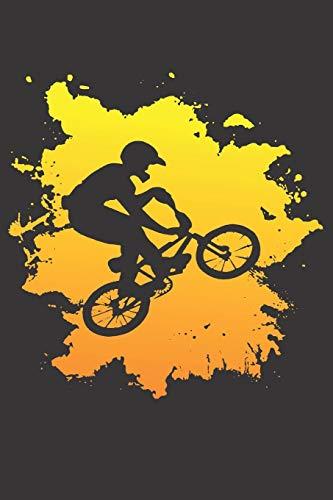 Notebook for Biker dirt bike motocross drag race bmx fire: Dot Dotted Grid Funny Notebook Diary Journal motorbike motorcycle Lover school Gift For Men ... rocker chopper route66 motocross helmet