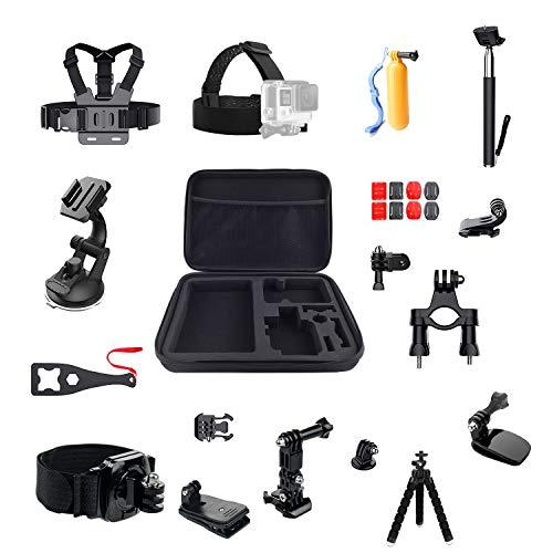 Kit accessori per GoPro Hero 7/6/5/4 Session Hero (2018) Fusion, DJI Osmo Action Accessories Pack 16 in 1 Sport Camera Accessori Kit di LiDCH