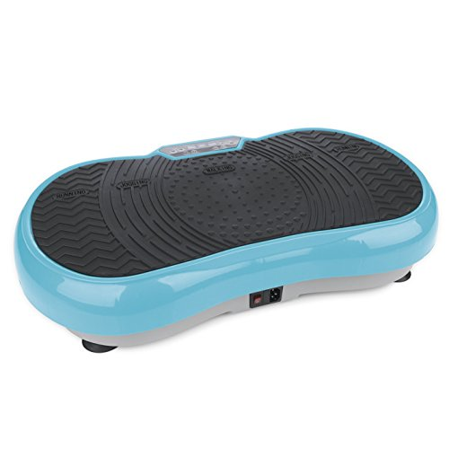 VITALmaxx 07125 Vibrationsplatte inkl. Trainingsbänder, 99 Stufen Power Vibro Technologie, Profi Vibrationsgerät mit rutschsicherer Trainingsfläche, LCD Display & Fernbedienung
