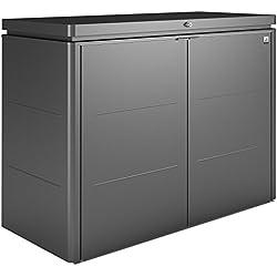 "Gartenbox ""HighBoard"" Gr. 160, dunkelgrau-metallic, ca. 160x70x118 cm, versandkostenfreie Lieferung"