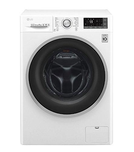 LG F4J7TN1W lavatrice Libera installazione Caricamento frontale Bianco 8 kg 1400 Giri/min A+++-40%,...