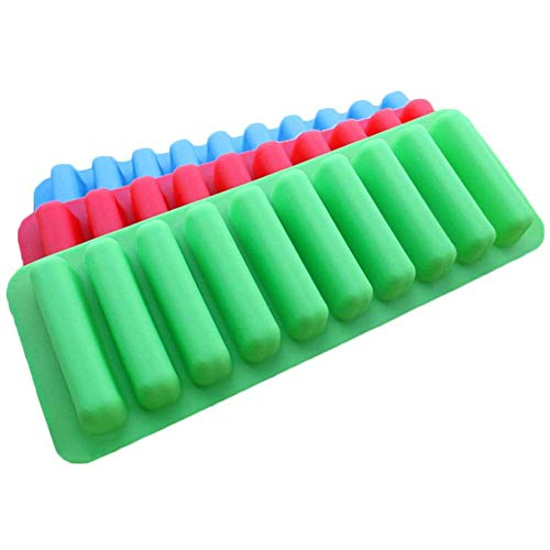 Absales AB SALES Silicone Ice Cube Tray with Easy Release Push Pop Out Stick for Small Mouth Sport Water Bottles, Bottled Soda (3 Pack, 30 Sticks)
