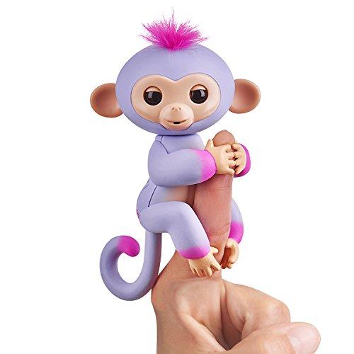 Wow Wee Fingerlings Zweifarbiges Äffchen Lila mit Pink Sydney 3721 interaktives Spielzeug, reagiert auf Geräusche, Bewegungen und Berührungen