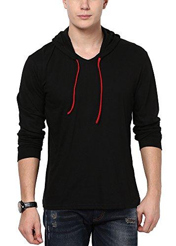 Katso Men's Cotton T-Shirt (KATSO-HOOD-FULL-BLACK-XL_X-Large_Black)