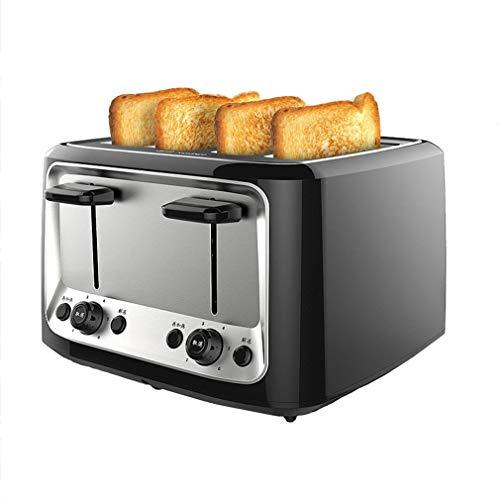 Tostapane per toast 4 Fette con 37.8mm Slot Automatica 6 livelli di doratura Vassoio Raccogli...