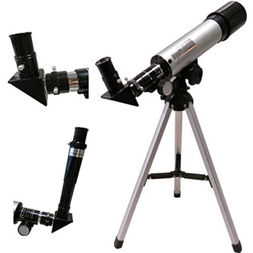AZOD Land and Sky 90x Zoom Refractor 360/50mm Monocular Space Astronomical Telescope Refractor Scope with Tripod