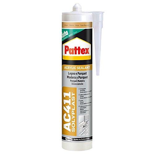 Pattex Sigillante silicone per legno parquet collante rapido sigillatura AC 411 (Noce Scuro)
