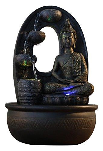 Zen'Light - Harmonie Fuente de poliresina, 26x 16x 40cm, Color Negro 3