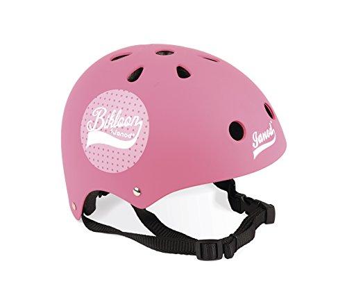 Janod- Bikloon Casco Bici per Bambini Regolabile, Colore Rosa, 1
