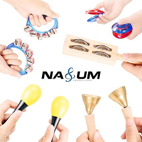 NASUM Strumenti Musicali per Bambini, Set 15 Pezzi Strumenti Musicali in Legno per Bambini Strumenti