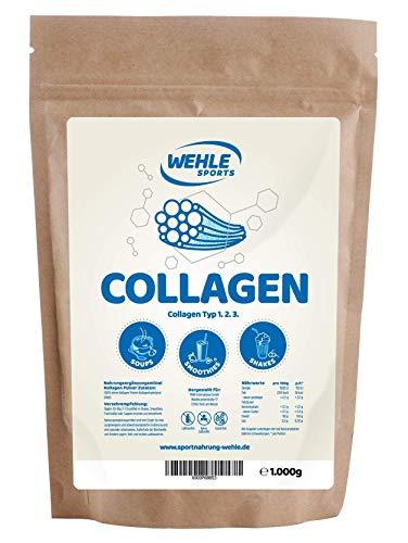 Collagene in polvere 1kg - Collagene idrolizzato Peptidi - Proteine in polvere Gusto Neutro - Sport Wehle - Made in Germany Collagene Tipo 1 2 3 Lift Drink