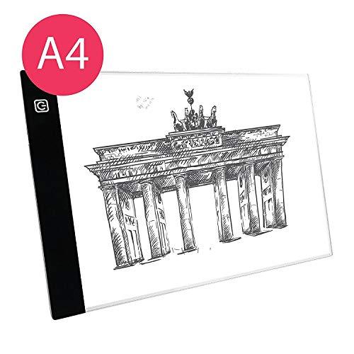 Sioco Light Pad Tavola Lavagna Grafica Luminosa A4 Professionale ultra Sottile per Disegnare...