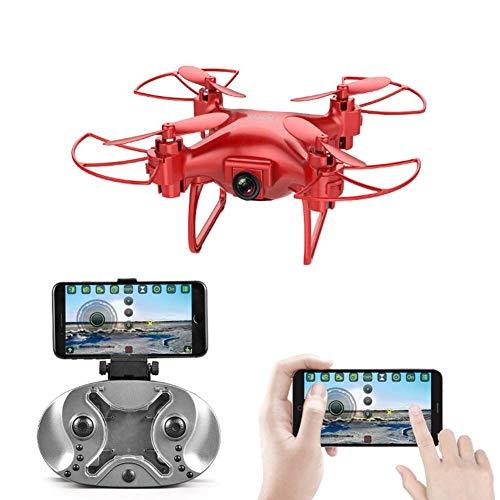 Mini Drone con videocamera HD Sensore di gravità Voice Control Traiettoria Flight Nano Quadcopter...